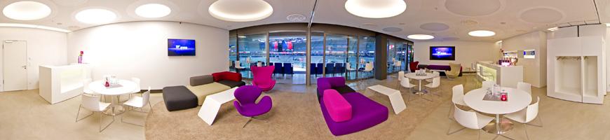 Vip bereiche sap arena for Raumgestaltung 360 grad