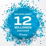 SAP Arena empfängt 12-millionsten Besucher