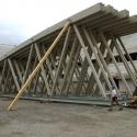 Die Dacharbeiten beginnen