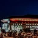 SAP Arena leuchtet in Orange